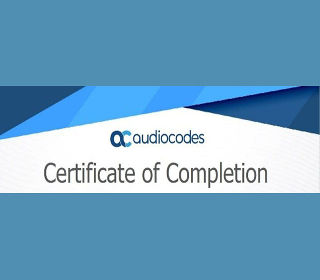 audiocodes certificate